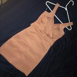 Nude Fitted Dress
